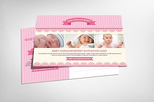 Baby Announcement Psd Card