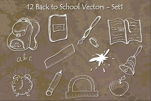 Back to School Vectors - Set1
