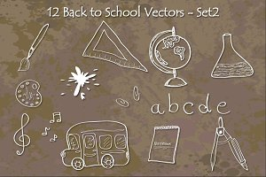Back to School Vectors - Set2