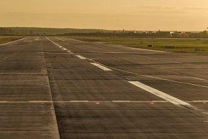 Airstrip at airport. Travel