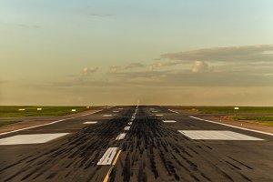Airstrip at airport. Runway. Travel