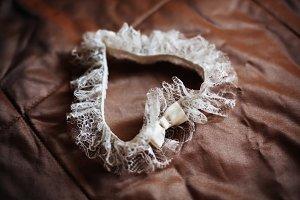 Wedding lace garter like heart