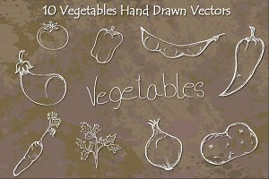 Vegetables Hand Drawn Vectors