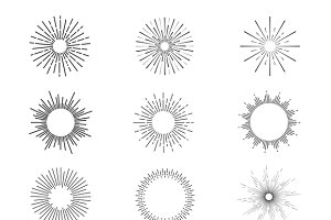 Sunburst Vector set