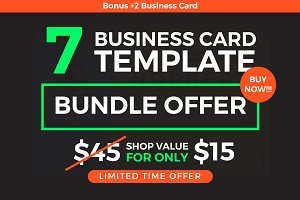 7 Business Cards Bundle + Bonus