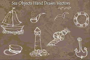 Sea Objects - Hand Drawn Vectors