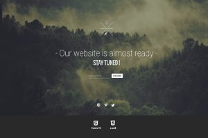 Universal Coming Soon HTML Template