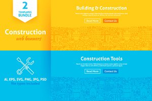 Construction Line Web Banners