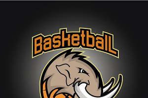 Basketball mammoth prof logo