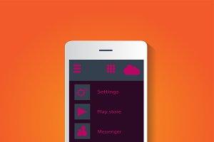 Smartphone icon material design