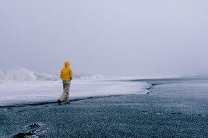 A Walk on a Winter Beach