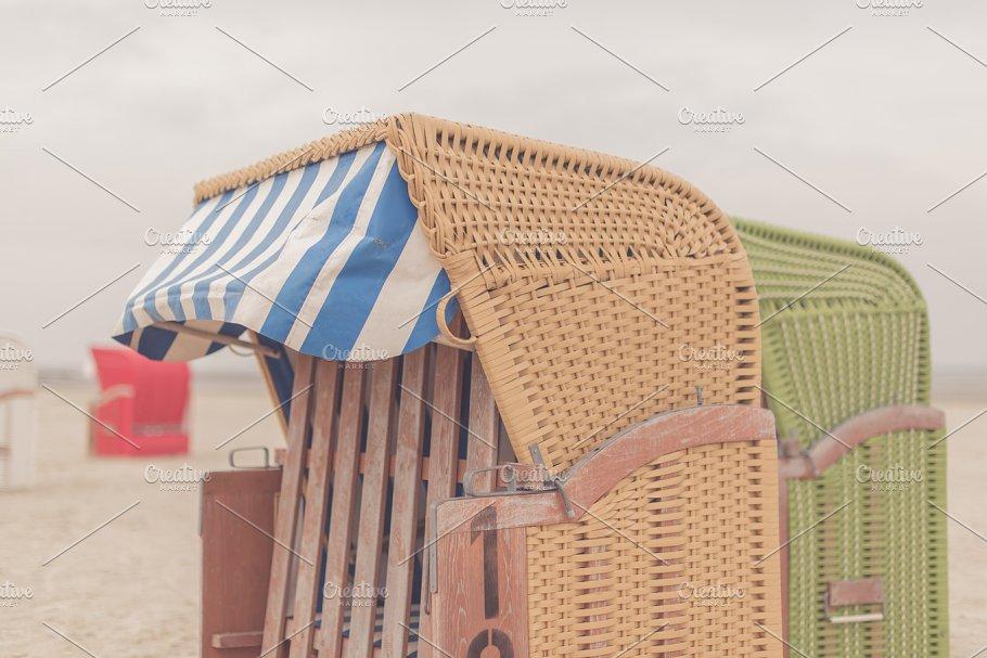 Wicker Beach Chair North Sea Holidays