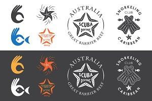 Snorkeling club emblems