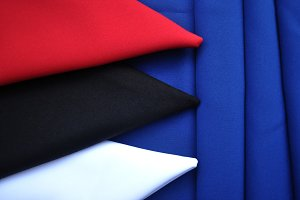 napkins on blue cloth