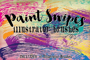Paint Swipes Illustrator Brushes