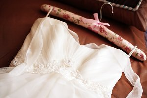 Wedding dress waiting bride