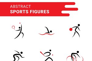 Abstract Sports Shapes