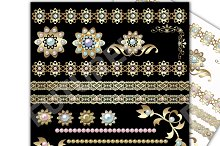 Gold and Pearls clip art.