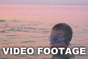 Boy Diving and Splashing