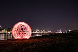 Lightpainting cologne