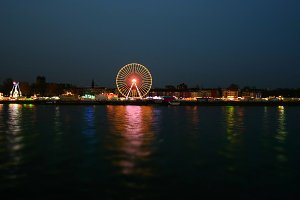 fun fair by night