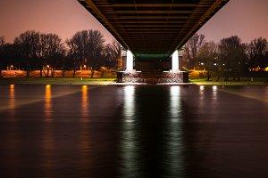 Bridge from beneath by night