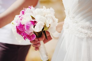 Wedding flowers. Pink and white.