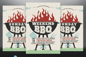 Weekend/Sunday/Holiday BBQ Flyer