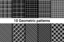 Seamless Patterns. Linear style.