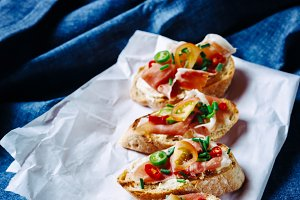 Italian food bruschetta