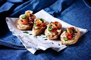 Fresh Italian appetizer bruschetta