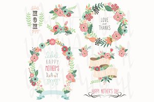 Floral Mother's Day Elements