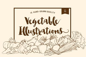 15 Handdrawn Vegetable Illustrations