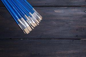 Brushes on wood