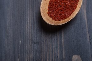 Spoon of red spice