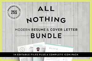 Bundle-Resume & letter Templates