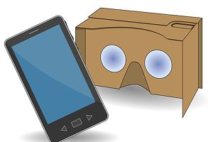 vr cardboard glasses virtual reality