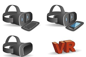 VR headset in black