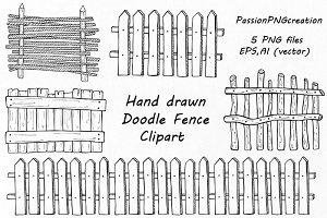 Doodle Fence Clipart