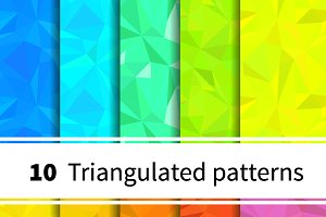 Ten triangulated seamless patterns