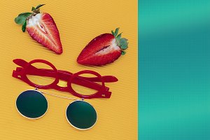 Sunglasses and Strawberry