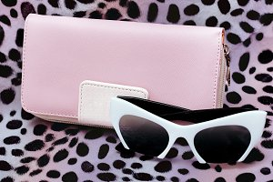 Stylish Ladyes Clatch and Sunglasses