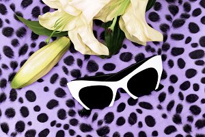 White Sunglasses and White Lily