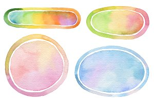 Watercolor painted backgrounds