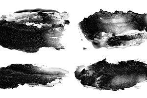 acrylic brush strokes blots