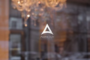 Atomic Style Logo Template