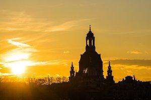 silhouette dresden city skyline