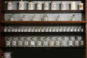 medicines in retro pharmacy