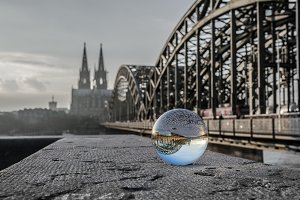 Cologne Cathedrale glass sphere