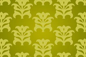 Green Yellow Chinese Flower Paper